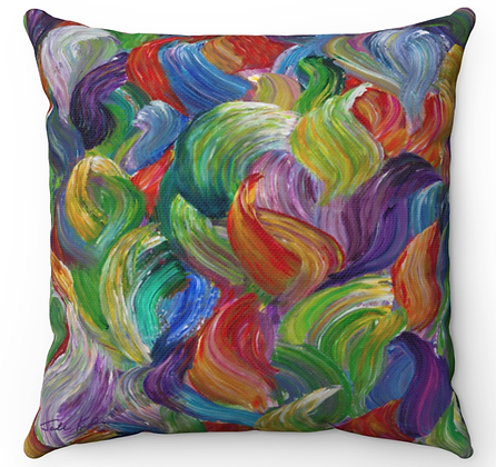 """""""Colorful Flames"""" Throw Pillow"""