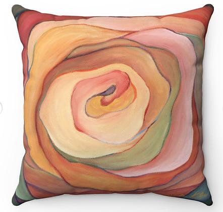 """Soft Carnation"" Throw Pillow"