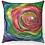 "Thumbnail: ""Bright Flower"" Throw Pillow"