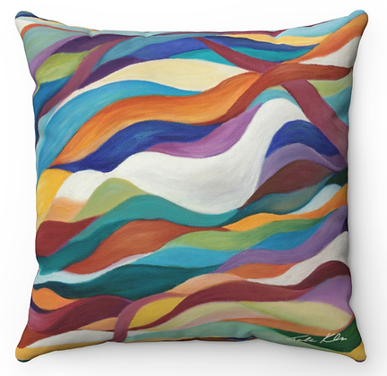 """Dove in a Rainbow"" Throw Pillow"