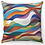 "Thumbnail: ""Dove in a Rainbow"" Throw Pillow"