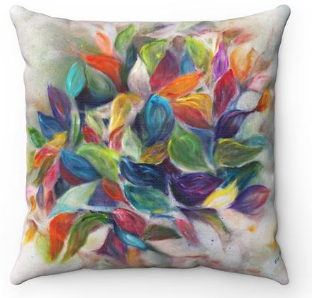 """""""Colorful Petals"""" Throw Pillow"""