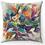 "Thumbnail: ""Colorful Petals"" Throw Pillow"