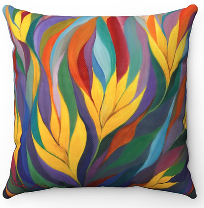 """Yellow Flowers"" Throw Pillow"