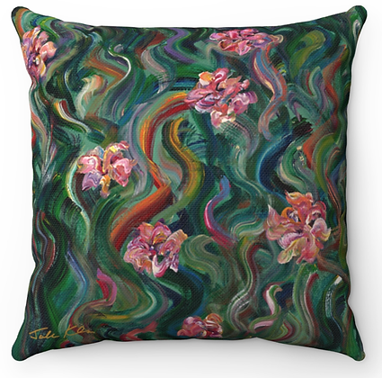 """Flower Garden"" Throw Pillow"