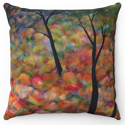 """Autumn Trees 5"" Throw Pillow"