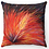 "Thumbnail: ""Red & Black Flower"" Throw Pillow"