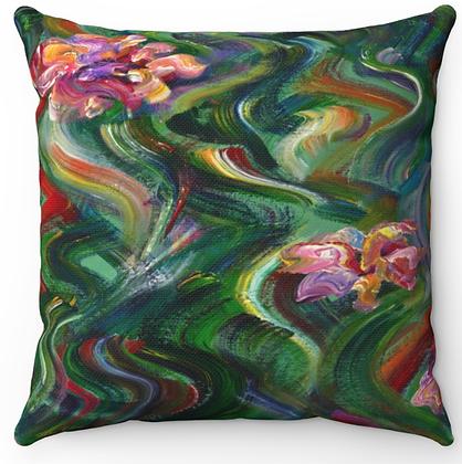"""""""Flowing Garden"""" Throw Pillow"""