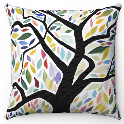 """""""Falling Leaves"""" Throw Pillow"""