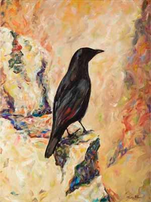 Raven in the Jerusalem