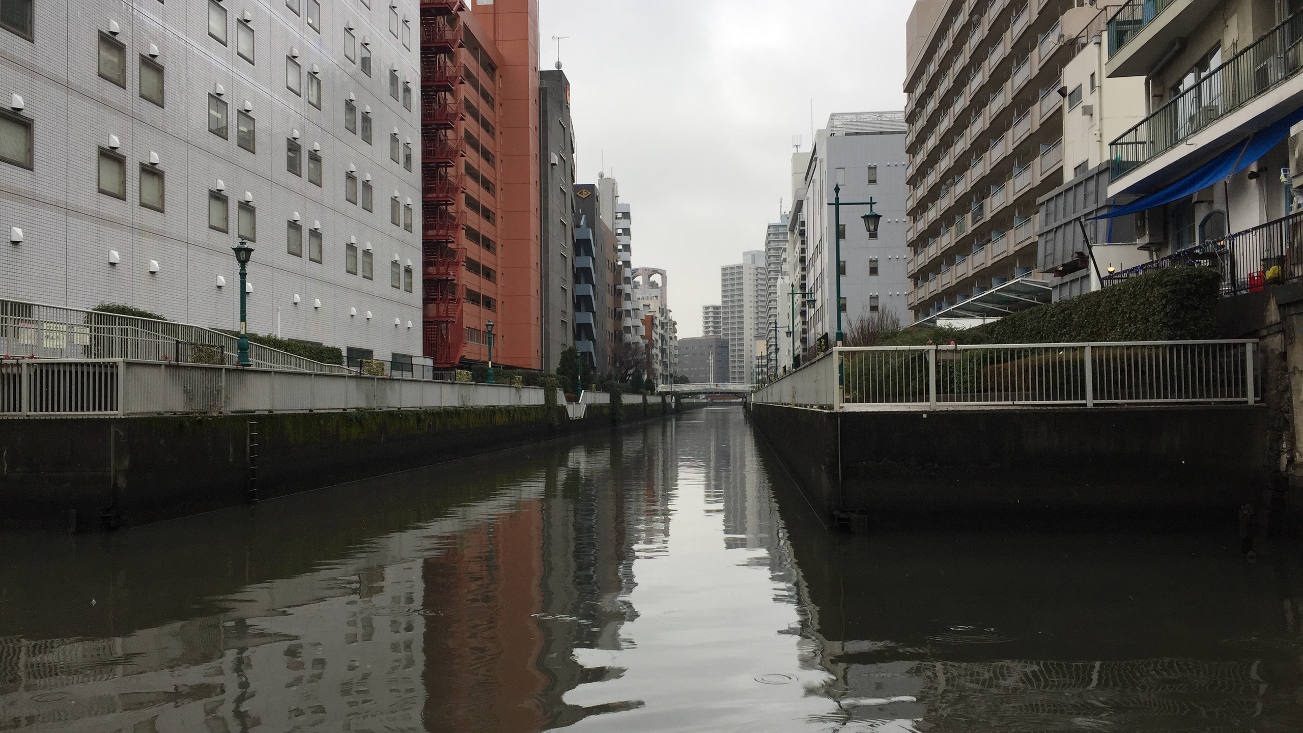 A maze of narrow canals helps commercials vessels transport goods throughout downtown Tokyo.