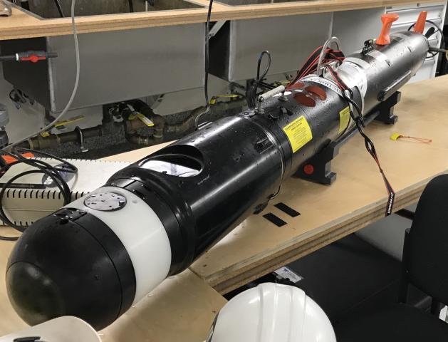 REMUS 100 AUV with BioSonics DTX