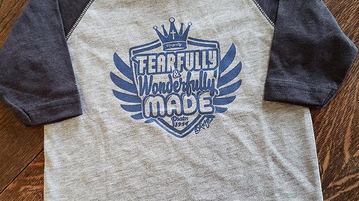 (Kid's) Fearfully & Wonderfully Made - baseball tee