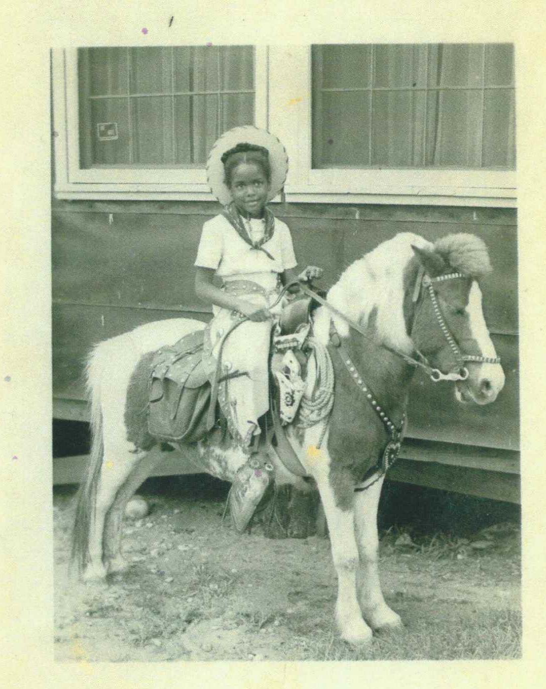 Nell on Shetland Pony 1947