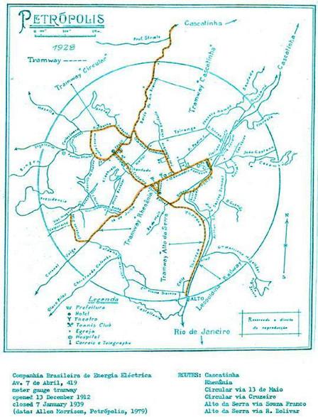 Mapa do antigo circuito