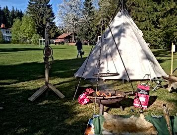 Outdoor Team Events Bayern,Outdoor Team Events Bayerischer Wald, Übernachtung im Tipi, Baumzeltübernachtung