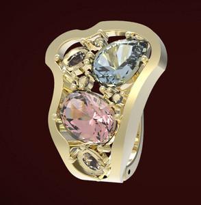 Кольцо выполнено для компании РОЗА как эксклюзивное изделие по пожеланию заказчика