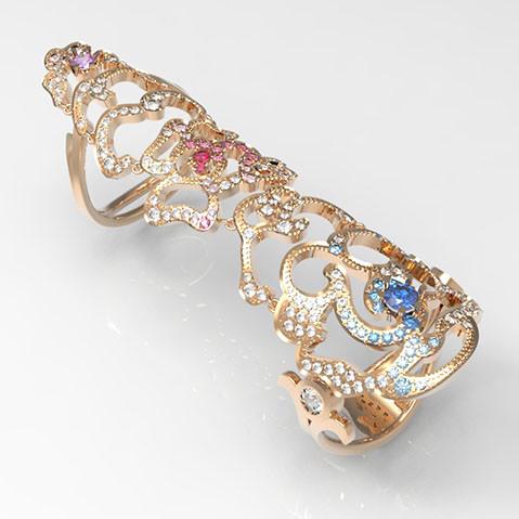 Кольцо выполнено для компании АРТЭЛЬ как эксклюзивное изделие по пожеланию заказчика. Выполнен дизайн и моделирование.