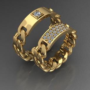 Кольца выполнены для компании ТЭМАРИ как эксклюзивное изделие по пожеланию заказчика