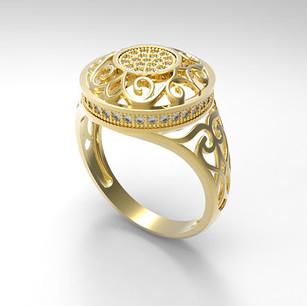 Кольцо выполнено для компании АРТЭЛЬ как эксклюзивное изделие по пожеланию заказчика