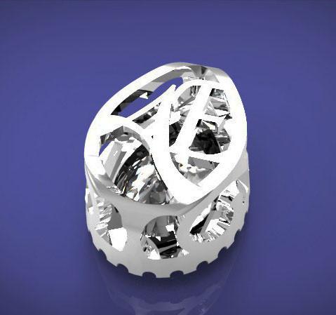 Кольцо выполнено для компании ТЭМАРИ как эксклюзивное изделие по пожеланию заказчика. Выполнен дизайн и моделировнаие изделия