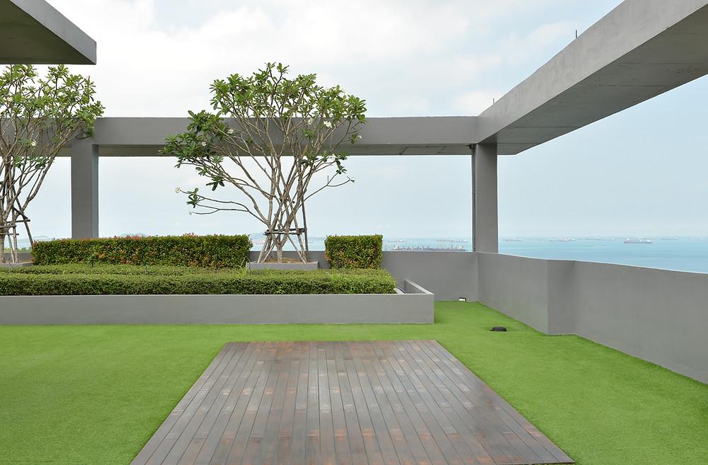 Flachdächer können grüne Oasen der Ruhe werden