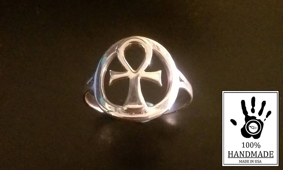ANKH Ring in Solid .925 Sterling Silver
