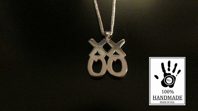 XX00 Design Sterling Silver 925 Charm