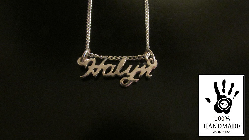 Custom Silver 0.925 Name Necklace