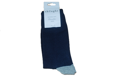 Thought Men's Bamboo Sock -Navy