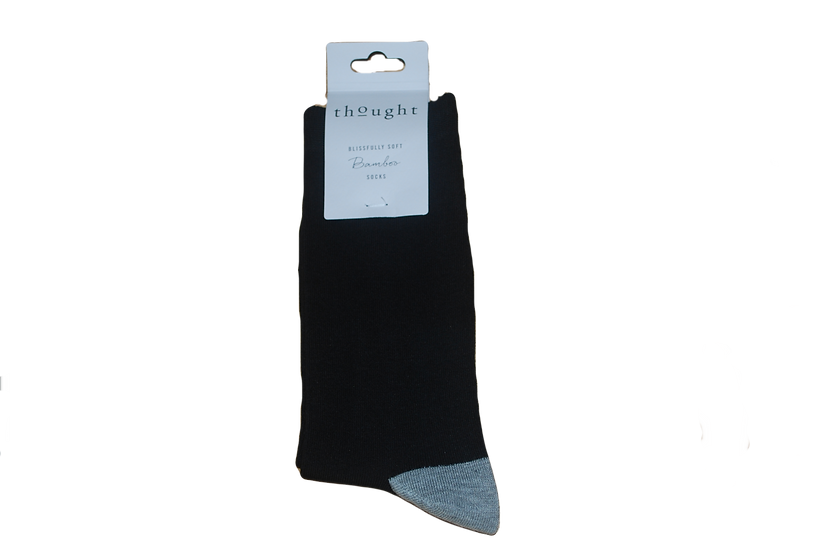 Thought Men's Bamboo Socks - Black