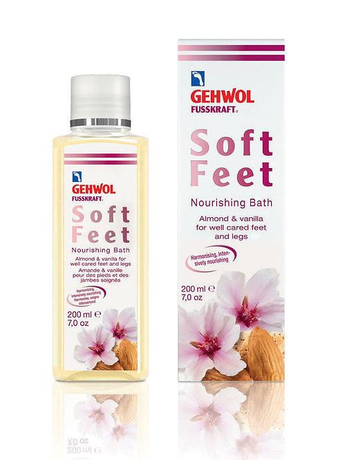 Gehwol Fusskraft soft feet nourishing Bath 200ml Almond and Vanilla