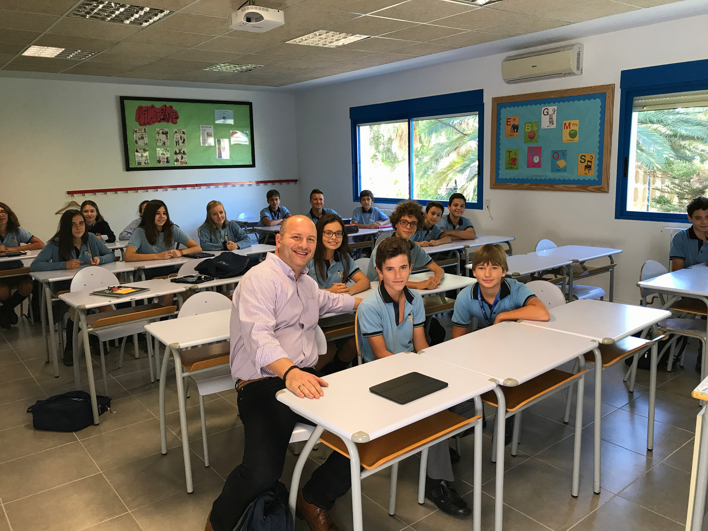 Richard Gerver visiting school