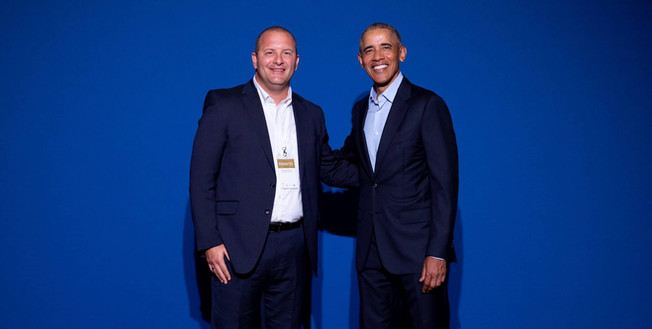 Richard Gerver and Barack Obama