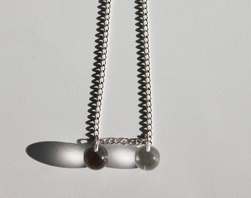 Duo Sphere Statement Necklace