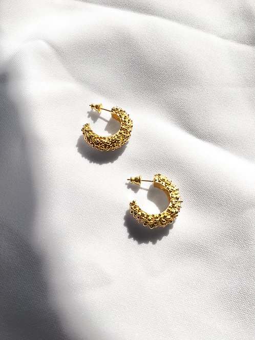 Cluster Hoops - gold