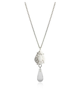BENEATH - SMALL NECKLACE WITH ROCK CRYSTAL 01