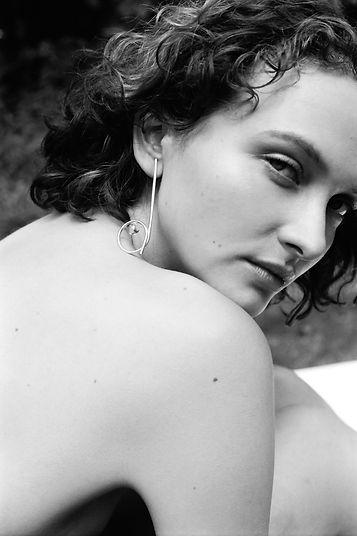 Silver earrings, handmade silver jewellery, rock crystal light earrings