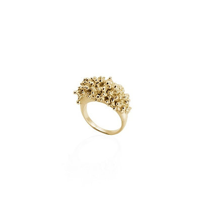 CLUSTER RING - 22ct GOLD PLATED