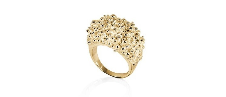 CLUSTER WIDE RING - GOLD