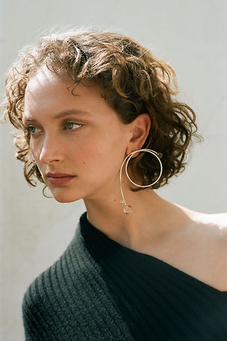 Handmade silver jewellery, silver statement earrings, sterling silver with rock crystal
