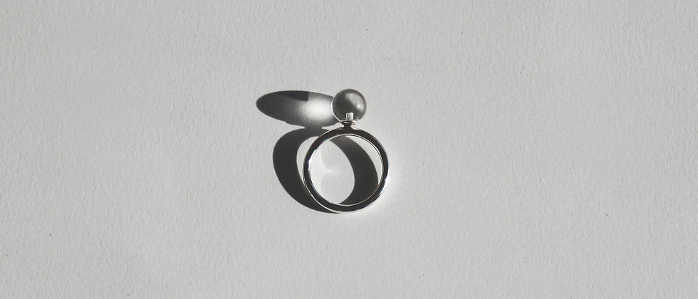 SOLO SPHERE RING - SMALL CLEAR