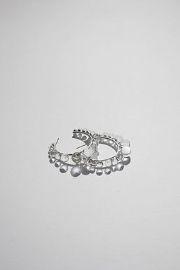 DEWDROP HOOP EARRINGS