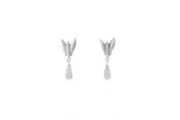 BENEATH - CRYSTAL DROP EAR STUDS