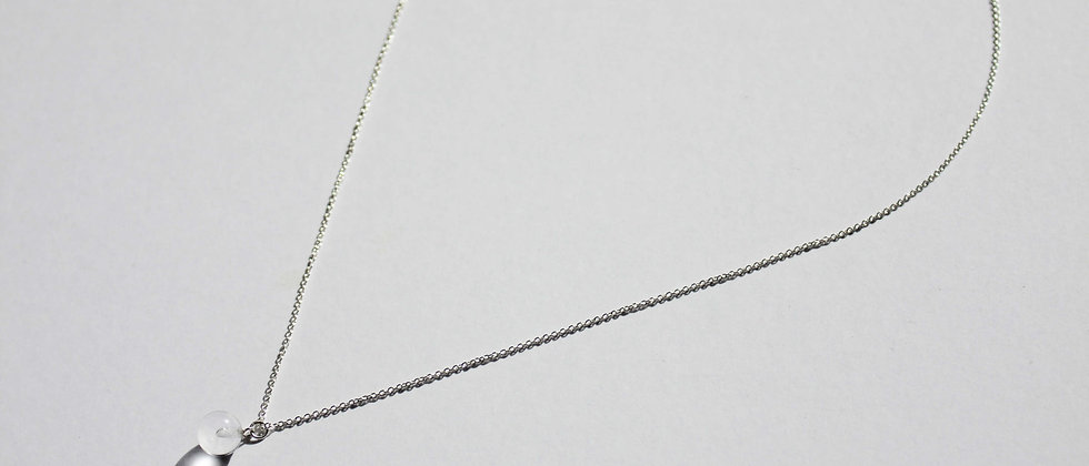 SOLO SPHERE SHORT NECKLACE - CLEAR