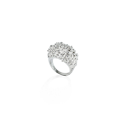 Cluster Ring (wide) - silver