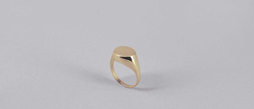 9ct YELLOW GOLD SIGNET RING