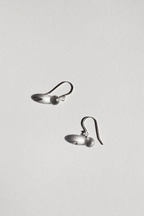 Small Sphere Drop Earrings - Clear