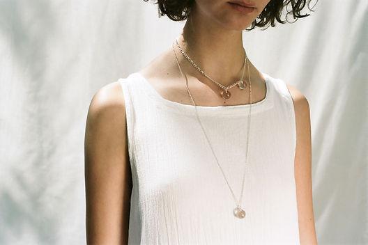 Handmade silver necklace, silver jewellery, rock crystal