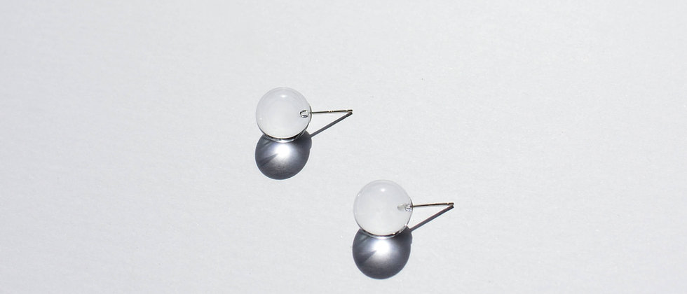 LARGE SPHERE STUDS - CLEAR